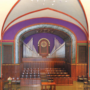 Front View Of Full Organ at First Presbyterian Church in Davenport, IA